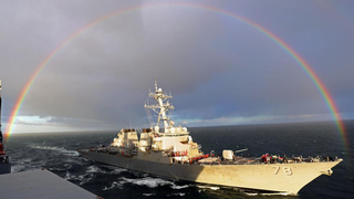 Someone Trapped This Destroyer Inside A Rainbow