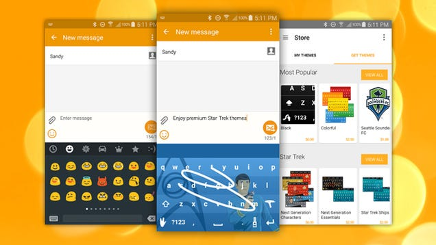Swype Update Adds Custom Themes, Emoji Keyboard and More