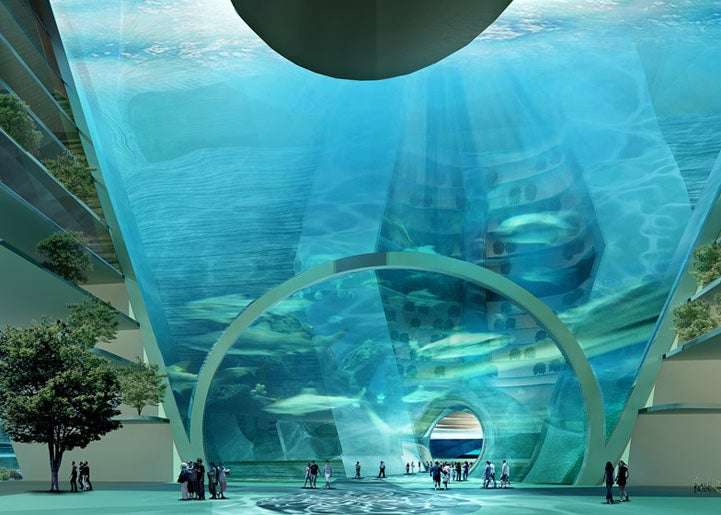 This amazing floating underwater city may become a reality in China