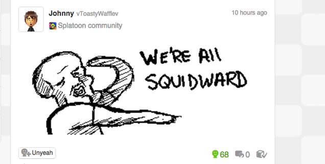Image result for splatoon miiverse squidward