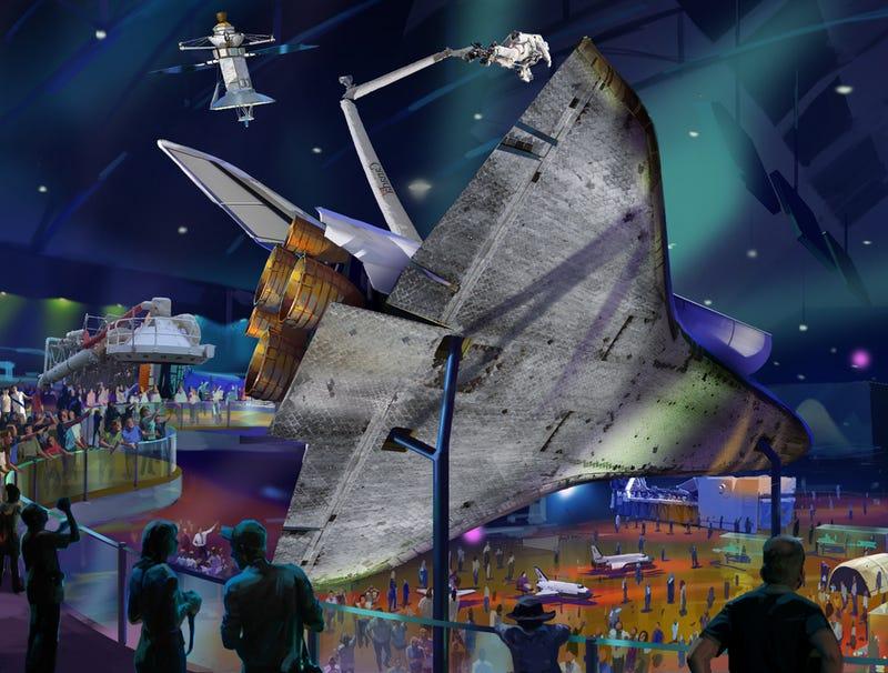 Gorgeous concept art shows the Space Shuttles' final destinations