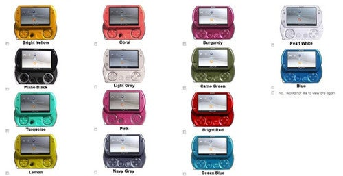 Which PSPgo Color Do You Prefer?