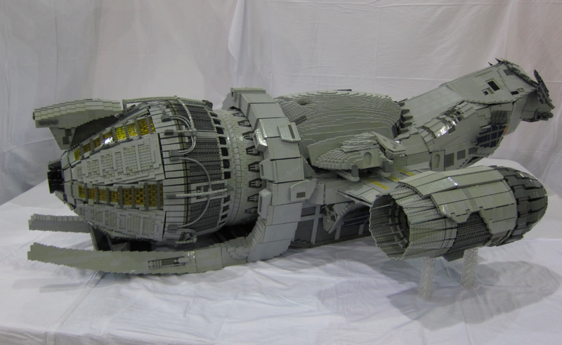 Amazing timelapse of massive 7-ft long Lego Serenity spaceship