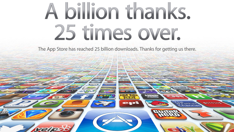 Apple Hits 25 Billion App Store Downloads