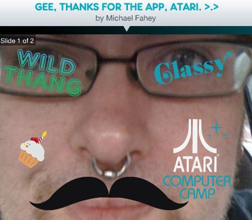 Atari Randomly Makes A Facebook Photo App
