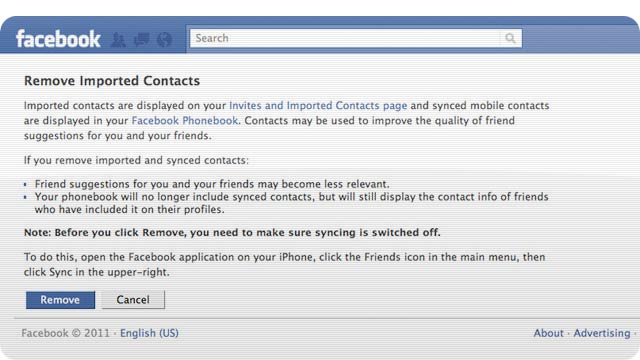 Here's How To Remove Your Contacts' Phone Numbers From Facebook's Clutches