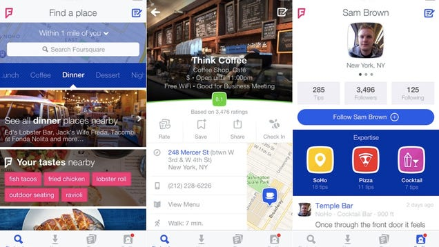The Redesigned, Yelp-Like Foursquare Is Finally Here—and a Lot Less Fun