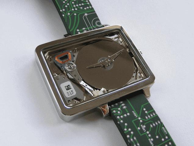 A Tiny Old Hard Drive Makes a Badass Nerdy Watch