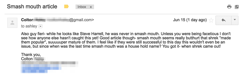 Smash Mouth Fans Speak Out