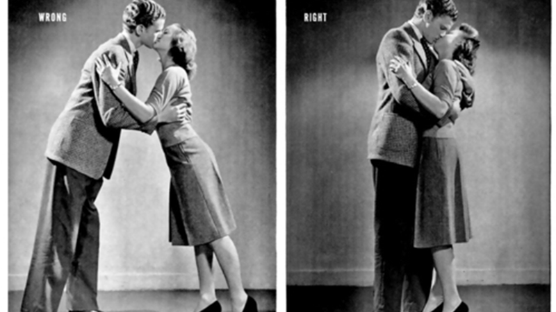 Here's How to Properly Kiss, as Taught by a 1942 Issue of LIFE