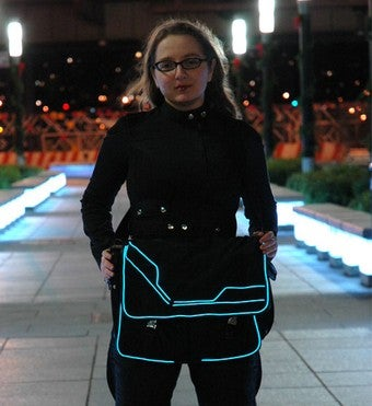 Glowing Tron-Inspired Messenger Bag Lights Up the Night
