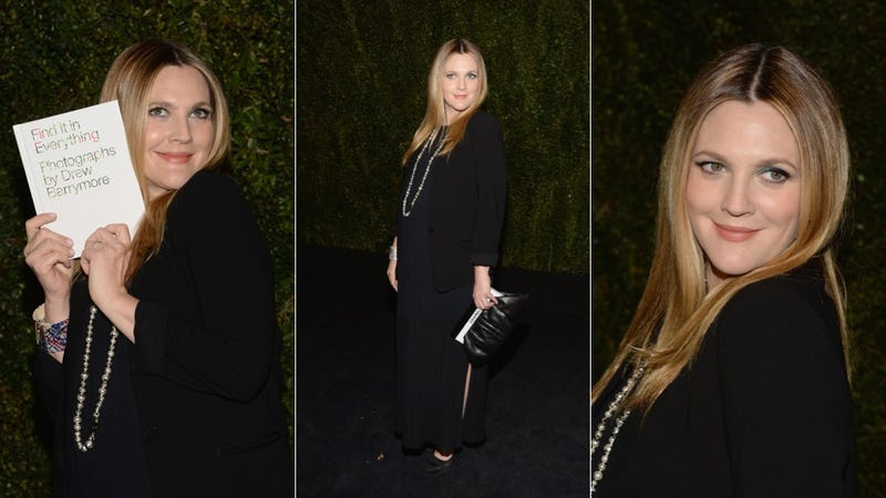Little Black Dresses and Bright Lips at Drew Barrymore's Book Party