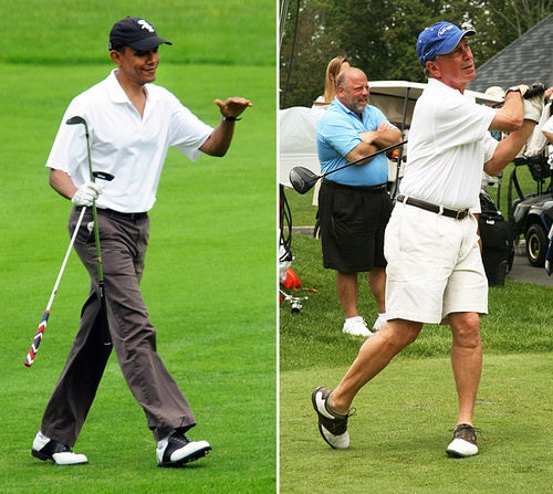 Barack Obama Went Golfing With Mayor Bloomberg Today
