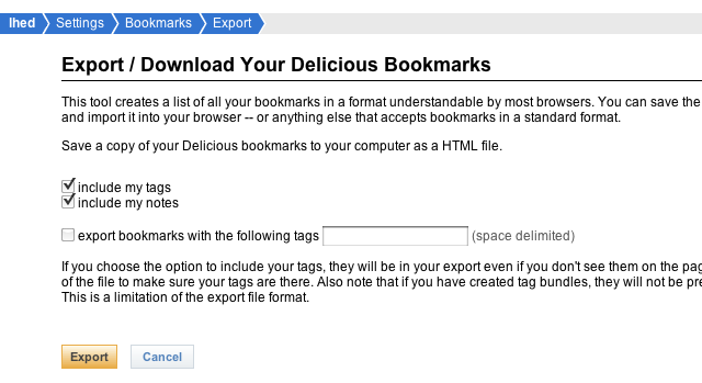 How to Export Your Delicious Bookmarks and Import Them Into Your Favorite Browser
