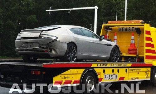 First Aston Martin Rapide Crash
