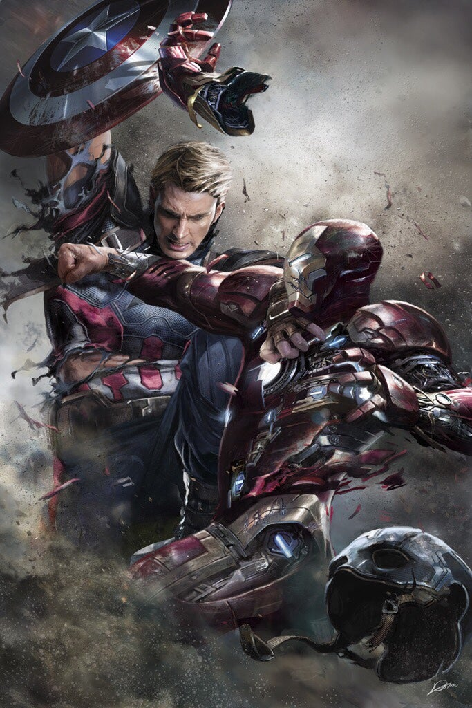 This Awesome, Tragically Unused Captain America: Civil War Art Should Be on Every Billboard