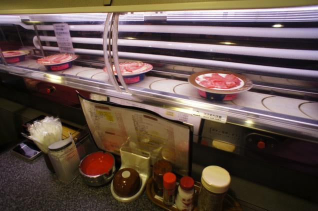 In Japan, You Can Get Raw Meat on Conveyor Belts