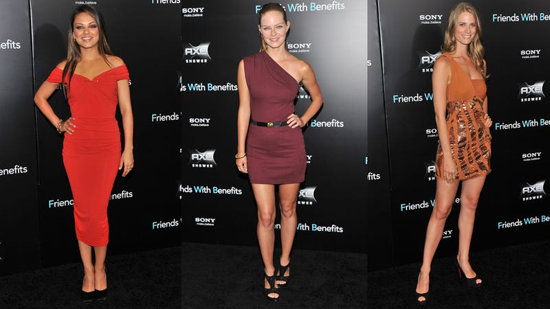 A Sea Of Sweaty Bandage Dresses At Friends With Benefits Premiere