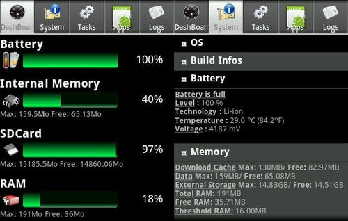 Android System Info Is a Detailed Dashboard and Task Manager