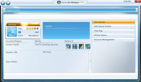 Games For Windows Live Gets Revamped Look, Marketplace