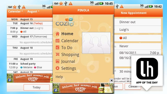 Cozi Family Organizer Keeps Your Family Life in Sync on the Web and on Android, iPhone, and BlackBerry