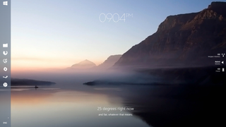The Foggy Lake Desktop