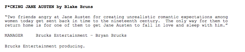How Come Fucking Jane Austen Didn't Get Made?