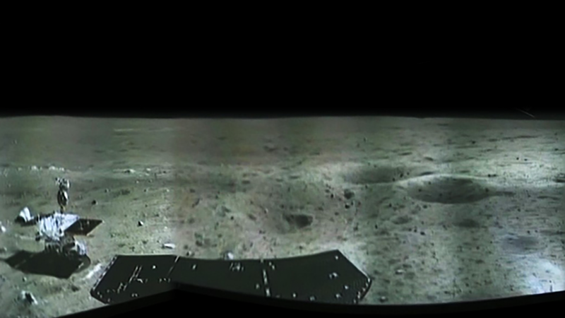 The desolate panorama from China's moon lander