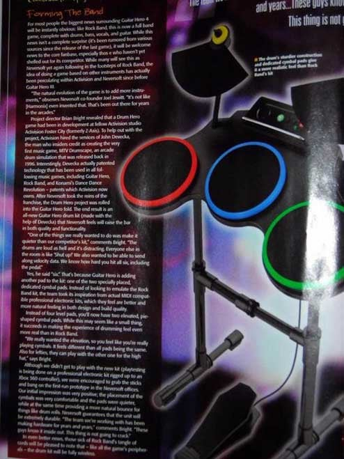 Here's What The Guitar Hero IV Drums Look Like