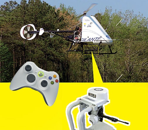 This Robot Helicopter Snipes Better Than You With an Xbox 360 Controller...In Real Life