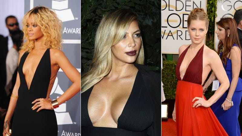 The Hottest New Boob Trend Is a Plunging V-Neck and No Bra