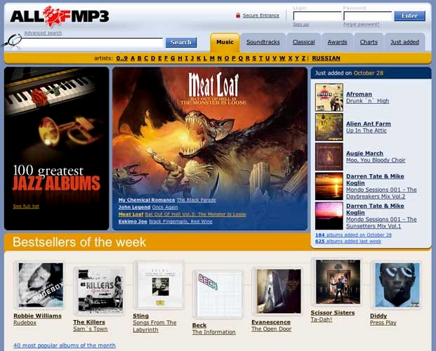 Allofmp3.com Owner Facing Jail Time Over Laws That Didn't Exist