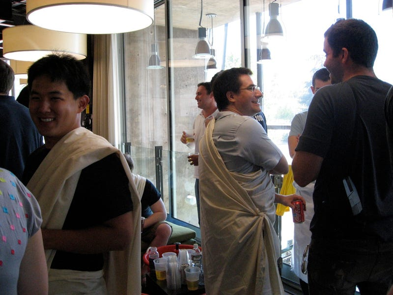 Spy photos from the Facebook toga party