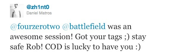 Peace for Our Time. Battlefield, Call of Duty Makers Play Battlefield 3 Together