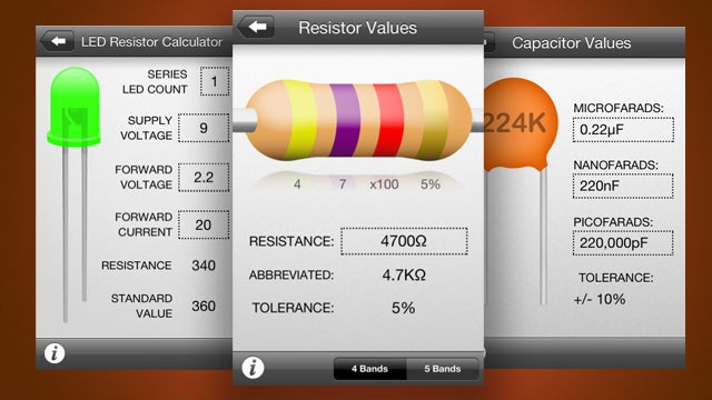 Circuit Playground Is a Mini Electronics Reference Manual for iPhone