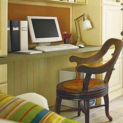 hide under desk cords with an attractive beaded panel. Black Bedroom Furniture Sets. Home Design Ideas