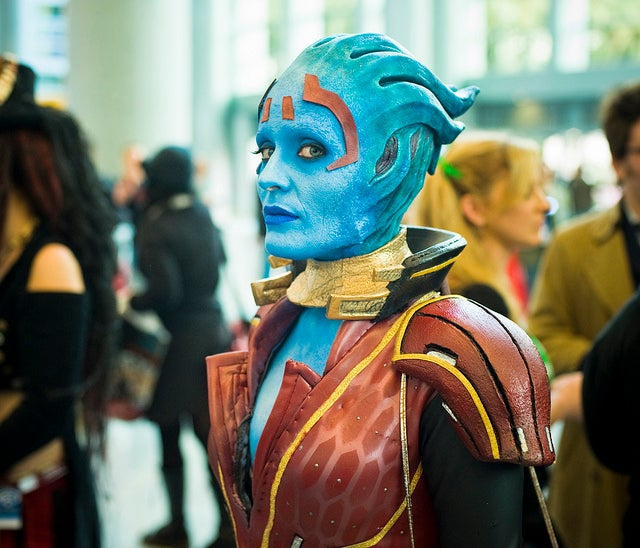 See the model for Mass Effect's Samara cosplaying Samara