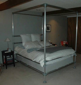 Build a Canopy Bed Out of Aluminum Pipe