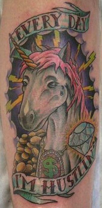 55 Bad Unicorn Tattoos