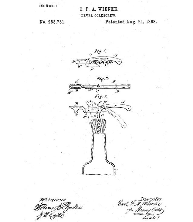 A Brief History of the Wine Corkscrew