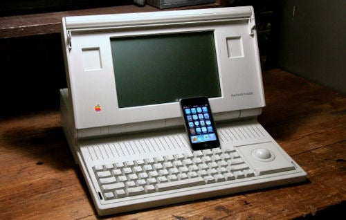Macintosh Portable Turns 20, Gets Undressed In Front of Sexier iPod touch