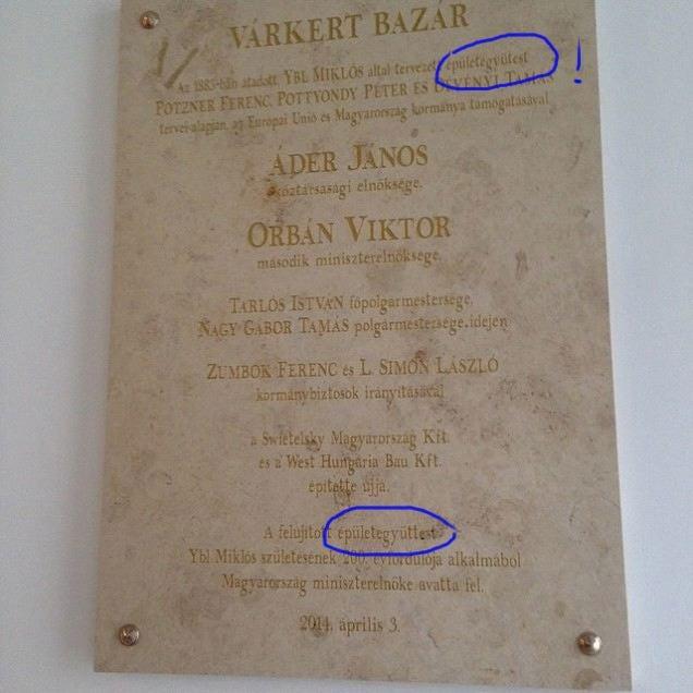 Nevettél már ma? Schmitt Pál véste a Várkert Bazár márványtábláját
