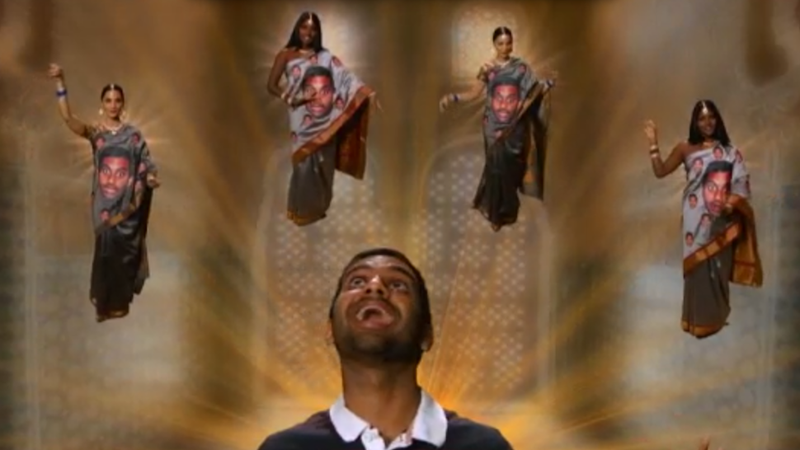 The Aziz Ansari Sari Is the Only Holiday Gift You'll Ever Need