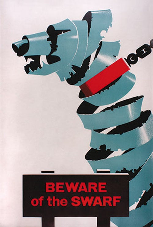 Beware the Swarf! Prevent loose heads! Posters reveal the secret dangers of Britain's race to modernity