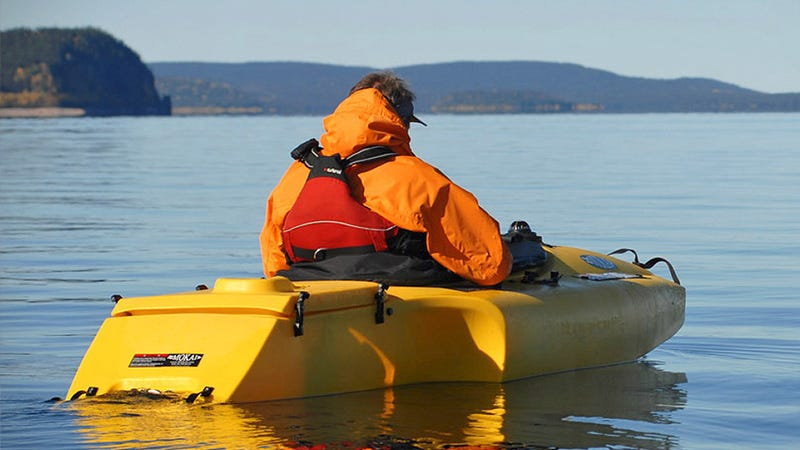 A Motorized Kayak For When You're Too Pooped To Paddle