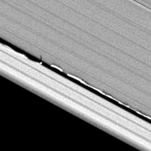 Daphnis Pulls a Jagged Line Through Saturn's Rings