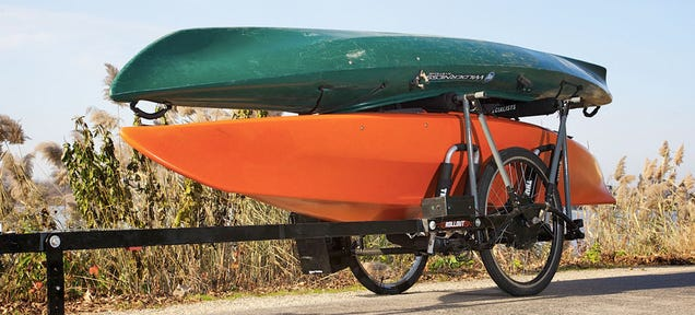 A Self-Powered Bike Trailer That Pulls All Of Its Own Weight