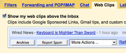 Do You Use Gmail's Web Clips?