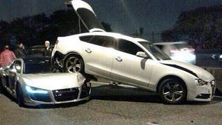 Audi R8 Locked In Embrace With A5 Sportback In Bizarre Crash