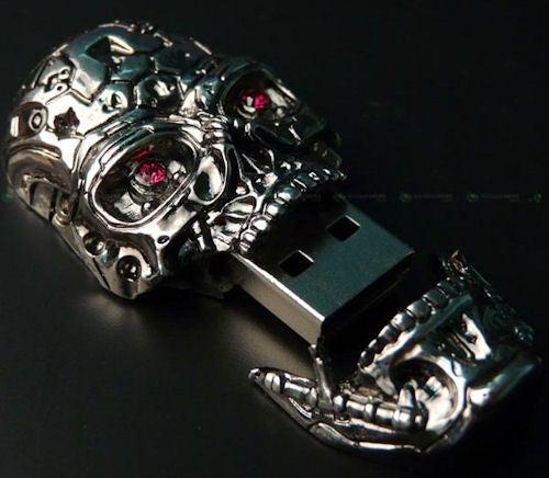 Terrifying T-600 USB Drive Has Rhinestone Eyes of Doom